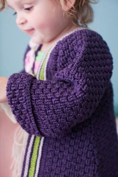 Free Crochet Baby Coat Pattern (more like a robe or long sweater . . . either way, it looks so cute and cozy!)