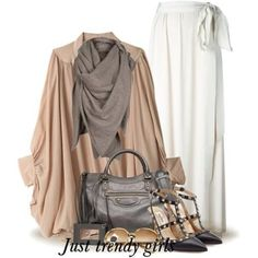 neutral tones fall outfit, Office wear for woman http://www.justtrendygirls.com/office-wear-for-woman/