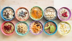 10 Healthy Porridge Toppings to help you and your family get a great start to the day! Kid friendly toppings that parents will love too!