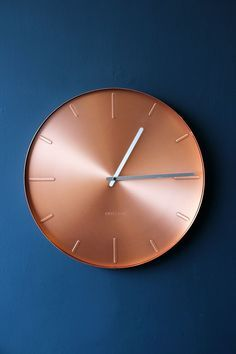 Love navy and copper - this clock is stunning.