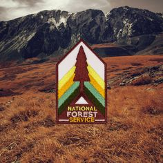 "I spend a lot of my free time in the National Parks and National Forests around Colorado and I've always loved the design of the park signs and other vintage artwork/posters designed around them. Here's my attempt at a Park Ranger patch :-)  - Each patch measures 2.75"" in height and 1.6"" in width  (or 7cm in height and 4cm in width) - To apply patch all you need is a sewing needle"