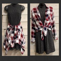How would you wear this adorable new flannel? We want to know! #shoplbvb #fallfashion #lbvb