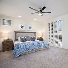 "Ocean view in Pacific Beach!!! I staged it and 3 weeks later ""PENDING"" ⚡️⚡️⚡️ here is the Master#staginghomes #homestaging #homesweethome #homedecor #master #bedroomdecor #bedroom #masterbedroom #blueaccents #bluedecor #oceandecor #bedding #quilt #bed #restorationhardware #woodfurniture #bedroomfurniture #art #blueart #homedesign #homedesigner #houseandhome #howyouhome #decorationideas #bedroomdecoration #sandiegorealestate #ilovemyjob - posted by Laura from La Maison French…"