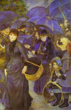 Pierre Auguste Renoir The Umbrellas Painting