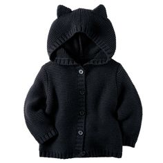 Hooded Kitten Cardigan | Carters.com