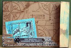 May Flaum - Blueprint stamps http://mayflaum.com/2013/02/19/card-tim-holtz-travel-blueprint-stamps/