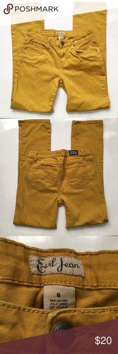 Mustard Yellow Earl Jeans Earl Jeans in mustard yellow. Bootcut. Size 6 Earl Jeans Pants Boot Cut & Flare