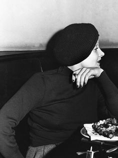 Marlene Dietrich at the Brown Derby, January 1933