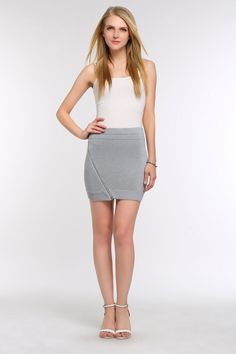 Mini Zippered Sweater Skirt- have some fun with your wardrobe and wear this little number out for a casual shopping day with the girls. Shopping Day, Sweater Skirt, Everyday Items, Have Some Fun, Designer Collection, Designers, Mini Skirts, Number, Casual