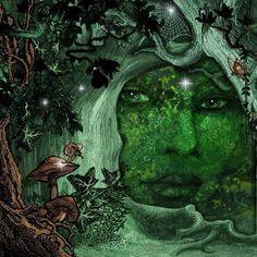 Skinner, And Gaia Running The Government Gaia, Mother Earth, Mother Nature, Earth Goddess, Goddess Art, Green Goddess, Goddess Tattoo, Nature Spirits, Illustration