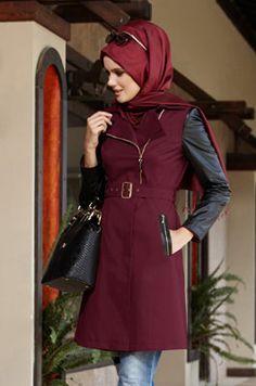 Alvina Online Alışveriş - Tesettür Giyim - Eşarp, Kaban, Kap, Etek, Ceket, Tunik, Pantalon, Elbise, Manto, Pardesü Islamic Fashion, Muslim Fashion, Hijab Fashion, Cardigan Outfits, Hijab Outfit, Red Spice, Wardrobes, Glamour, Clothes For Women
