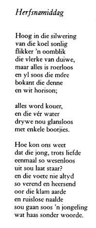 N.P. Van Wyk Louw - Herfsnamiddag | Die Blog Kassie