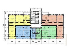 жилая секция 14 - Поиск в Google Flat Plan, Hotel Floor Plan, Building Layout, Apartments, House Plans, Buildings, Villa, Floor Plans, Flooring