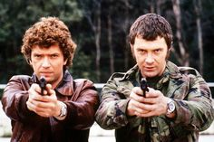 Martin Shaw, left, and Lewis Collins found fame as the Professionals