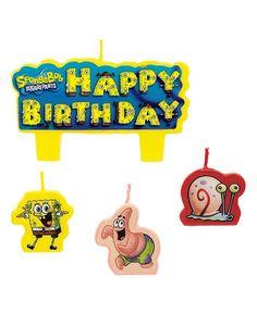 Sponge Bob Cake Topper Candles