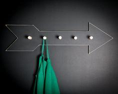 Coat Rack hanger Arrow  birch wood by DesignAtelierArticle on Etsy, $45.99