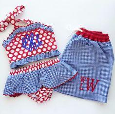 Blue Gingham Swim Trunks or Shorts for Infant, Toddler, Preschool Boys – A Woman's Wish List