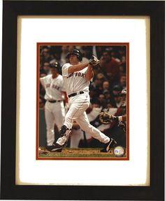 Red Sox Kevin Youkilis Swinging Framed Photo