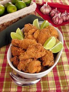 Frango frito com alho - Guia da Cozinha