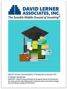 Along with many other freedoms college students will experience, they'll also have to manage their own finances, probably for the first time.  Here are five financial lessons for college students: