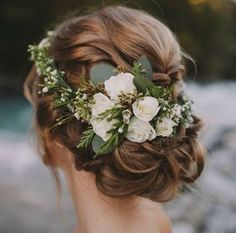 Wedding Hair w / Flowers ?