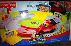 NEW-Fisher-Price-Little-People-Lil-Movers-Race-Track  COMPLETE