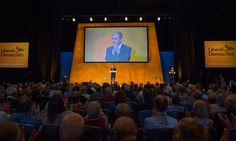 Liberal Democrat leader Tim Farron makes his leader's speech on the final day of the Liberal Democrats annual conference on September 23 2015 in. Tim Farron, Liberal Democrats, Bournemouth, Conference, September, Concert, Business, Pictures, Image