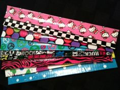 Make slap bracelets cute with a Slap Bracelet Upgrade. This is one of the most simple duct tape crafts you will ever run into.