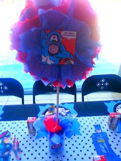 SuperHero Pop Art Comic Birthday Party Ideas | Photo 1 of 97 | Catch My Party