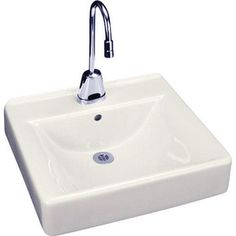 Kohler 20 x 18 in. Wall Mount Bathroom Sink with 8 in. Widespread Faucet Holes White | 2053-0 | at Ferguson.com