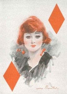 The war was over, and it shows. By 1919, women's hair is cut short, and even bright red. The make-up's heavy, there's a lot of skin on view, and every woman has a cigarette attached to her fingers.