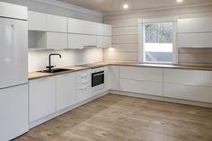 Design Moderne, Cuisines Design, New Kitchen, House Plans, Sweet Home, Kitchen Cabinets, Cottage, Inspiration, Home Decor