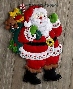 bucilla here comes santa felt christmas wall hanging kit 86737 toys 2016