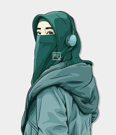 Lenka-Trouble is friend-Ska version Cartoon Pics, Cute Cartoon Wallpapers, Girl Cartoon, Beautiful Muslim Women, Beautiful Hijab, Hijabi Girl, Girl Hijab, Vector Character, Portrait Vector