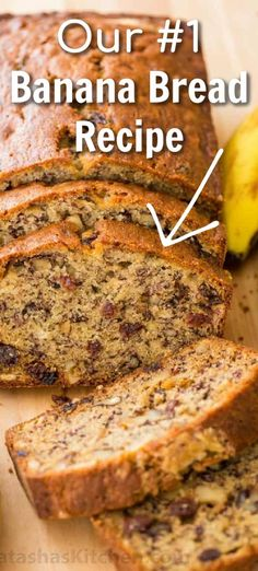 An easy and moist Banana Bread Recipe that is loaded with bananas, tangy-sweet raisins, and toasted walnuts. This is one of our favorite overripe banana recipes with hundreds of 5-star reviews. It's super moist and makes a great breakfast on-the-go. Watch Natasha make this moist banana bread and you will be surprised at how easy it is. We will never stop loving this recipe. Now go forth and bake! #bananabread #sweetbreadrecipe #bananabreadrecipe #moistbananabread #easybread #natashaskitche