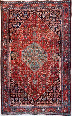 Mint Condition Antique Persian Bidjar Rug