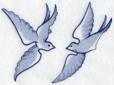 Machine Embroidery Designs at Embroidery Library! - Blue Willow Doves
