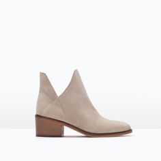 ZARA - TRF - FLAT HIDE ANKLE BOOT