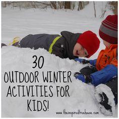 winter activities for kids graphic