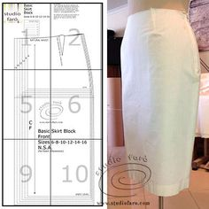 Skirt Block Sizes 6-16 A0 (download) #wellsuitedblog #patternpuzzles #creativepatternmaking #sewingpatterns #vintagepatterns #PDFsewingpatterns #digitalgarmentblocks #plussize #studiofaro #patternmakinginstructions #patternmakingblocks
