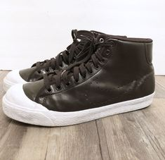 2c8ca14bb41418 Nike All Court Mid 408577 200 Velvet Brown Patent Leather Mens Sz 12