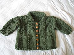 Ravelry: Grammaji's Cable & Seed Stitch Baby Jacket