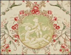 .Gorgeous toile with cupids.