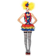 damenkostüme karneval buntes kostüm clown