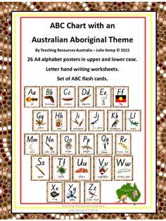 Aboriginal ABC Chart Flash Cards Letter by TeachingResourcesAus Aboriginal Art For Kids, Aboriginal Symbols, Aboriginal Education, Indigenous Education, Aboriginal Culture, Aboriginal Dreamtime, Aboriginal Painting, Indigenous Art, Letter Tracing Worksheets