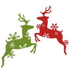Reindeer Snowflake Flourish Set SVG scrapbook cut file cute clipart files for silhouette cricut pazzles free svgs free svg cuts cute cut files