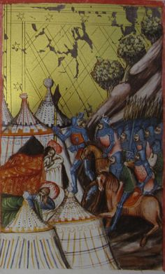 Painted tents, Germany 1389