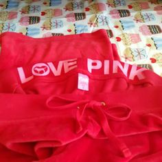 Victoria's Secret PINK Sweat Pants These are in like new pre-owned condition size small.  So soft and pretty. PINK Victoria's Secret Pants Track Pants & Joggers