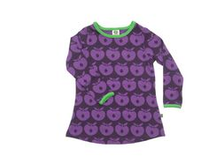 Purple apple print dress by Smafolk - So great for fall!