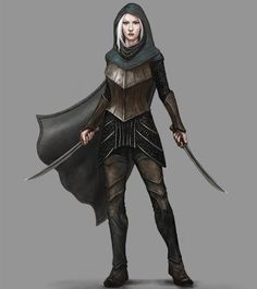 Elven Assassin, second of four assassins commissioned for the Facebook Algadon RPG game